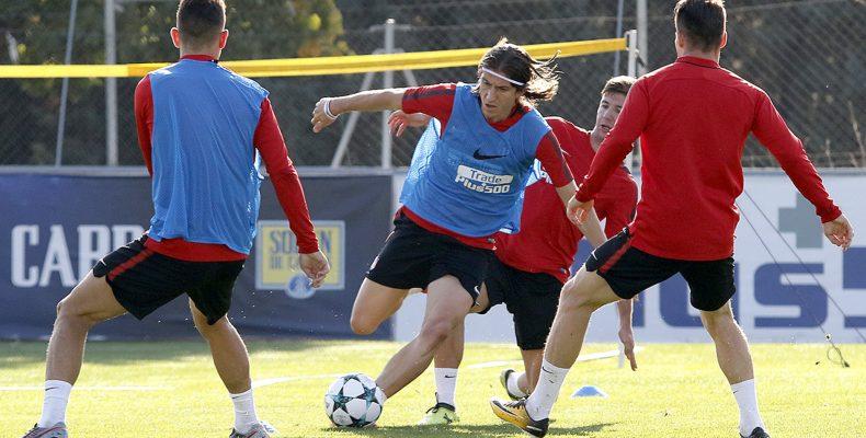 Entrenamiento de Simeone en el Atlético de Madrid